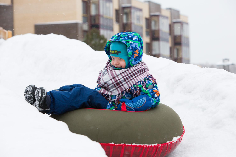 На мото по снегу фото